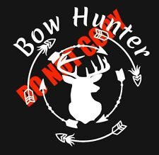 """13/""""  I Hunt WhiteTAIL All Year Long Vinyl Graphic Decal Deer Decoy Feeder Scope"""