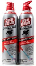 2 Simple Solution Platinum Odor Destroyer Eliminates Pet Odors & Stains 17oz