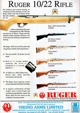 RUGER 10/22 RIFLE - 1999 ADVERT Advertisement for the Ruger Range of Rifles Guns