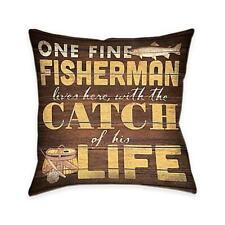 Laural Home Fine Fisherman Indoor Decorative Pillow