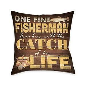 Fine Fisherman Indoor Decorative Pillow