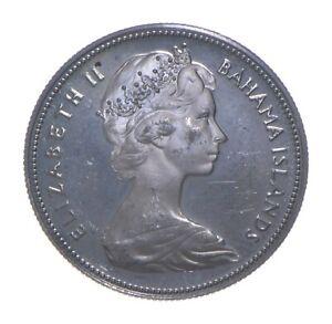 SILVER - WORLD Coin - 1970 Bahama Islands 50 Cents - World Silver Coin *291