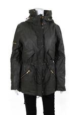 SAM New York Womens Hooded Jacket Green Size Medium