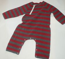 ALBUM DI FAMIGLIA Baby One Piece Striped Suit Red/Brown Italy 12-18m NEW w/Tags