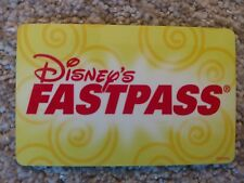 Walt Disney World Fast Pass Card - Original Test Card ** VERY VERY RARE**