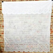 "Vintage Shower Curtain Floral Flowers Tulip 68"" x 72""  Chic Cottage White"