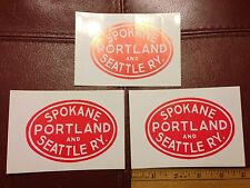 Railroad Decals (3) - SPOKANE PORTLAND & SEATTLE (SP&S)- free shipping from USA