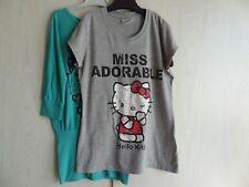 Lot de 2 T-shirt, 1 gris, 1 vert, taille S - Hello Kitty et H&M