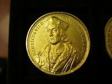 Henry VII DASSIER CROWN SIZE GILT MEDAL BY THE LONDON MINT