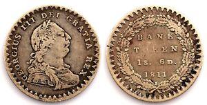 Gran Bretania-Jorge III. 1 chelín y 6 peniques. 1811. Plata 7,2 g.