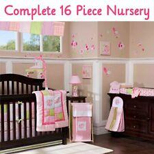 KidsLine Mosaic Garden 16pc Complete Nursery ~ Crib Set Mobile Lamp Decor More!