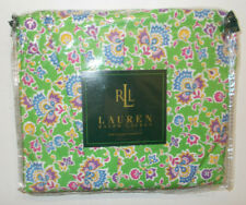 New Ralph Lauren Hampton Beach Paisley Queen Bed Skirt Dust Ruffle Green Floral
