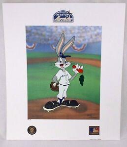 Looney Tunes McKimson ASTROS Warner Bros Bugs Bunny Now Pitching BASEBALL Litho