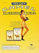 2000 magazine Ad, CAMEL 'Turkish Gold' Cigarettes, Pinup Cigarette Girl -110713