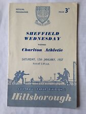 1956/7 Sheffield Wednesday V Charlton Athletic