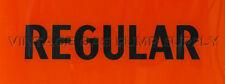 Regular Black/Orange Flat Ad Glass (AG449)