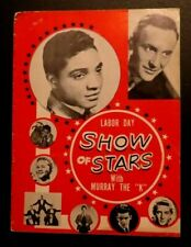 "SHOW OF STARS with Murray the ""K"" - Original 1961 U.S.A Tour Concert Program"