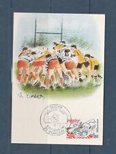 carte 1er jour  sport Rugby  33 Bordeaux    1982