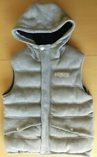Carbrini Gilet Bodywarmer Light Grey Age 10 -11 Puffa Padded Quilted Cotton Soft