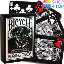 Ellusionist Noir Tigre Rouge Pépins Bicycle Playing Cards Deck Magie USPCC