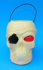 RARE PIRATES OF THE CARIBBEAN SKULL HALLOWEEN BUCKET LANTERN CANDY CONTAINER