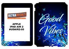 Ultradecal iPad Air 2 Skin Wrap Decal Printed Sticker 3M Vinyl - Good Vibes