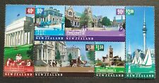2002 New Zealand Architectural Heritage Buildings 6v Stamps Block Mint NH