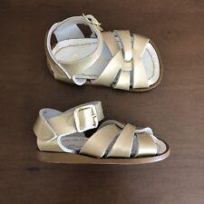 Salt Water Toddler Girls Gold Sandals Size 3
