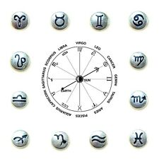 Floating Charms Mini Charm 4 Glass Memory Locket Horoscope Zodiac Star Signs 8mm