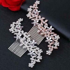 Crystal Flower Bridal Hair Comb Pins Clips Diamante Wedding Hair Accessories