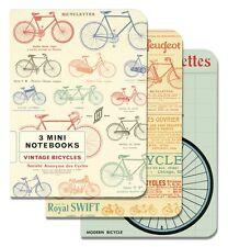 Cavallini & Co. Vintage Bicycles Mini Notebooks Set of 3