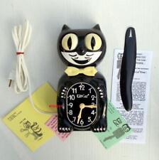 ELECTRIC-VINTAGE-KIT CAT CLOCK-KAT-KLOCK-ORIGINAL MOTOR REBUILT-BLACK BEAUTY-USA