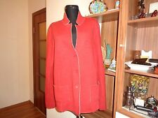 EILEEN FISHER MERINO WOOL BRICK RED RELAXED BLAZER JACKET-XL,16-UK