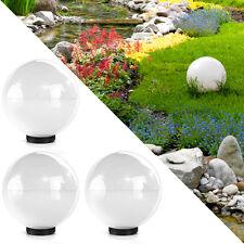 3x Kugelleuchte 20cm Kugellampe Leuchtkugel Außenlampe Gartenlampe Außenleuchte