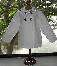 """""""First Impressions"""" baby Toddler  Navy and white salor coat  in size 24 Months"""