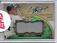 2013 Triple Threads AVISAIL GARCIA AUTO JERSEY SP #34/50 JERSEY NUMBER TIGERS!