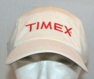 white Headsweats Timex baseball hat running cap adjustable