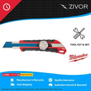 New Milwaukee 18Mm Snap-Off Knife With Metal Lock And Precision Cut Blade