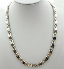 Magnetic Therapy Necklace with beautiful Gold and Silver Links