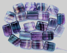 Natural Rainbow Fluorite Flat Rectangle Beads 13×18mm 15.5""