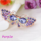 Fashion Women Crystal Rhinestone Hair Clip Butterfly Barrette Clamp Hairpin
