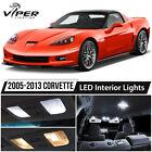 2005-2013 Chevrolet Corvette C6 White LED Interior Lights Package Kit  for sale