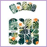 Nail Art Water Decals Stickers Transfers Summer Tropical Palm Trees Floral RU318
