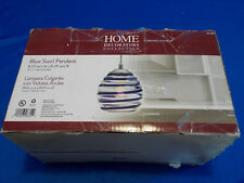 Home Decorators Collection Blue Swirl Pendant Ceiling Light 494 989
