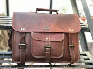 Leather Vintage Laptop Messenger Handmade Briefcase Bag Satchel Top Trending GVB
