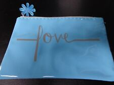 Turquoise Cosmetic Bag Pouch Case with zipper