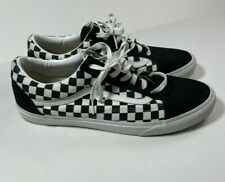 Vans Off The Wall Old Skool Skateboard Shoes Black White Checkered Mens Sz 15