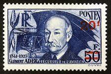 Frankreich Clement Ader Luftfahrt Briefmarke Neu n°493 MNH 1941 B4