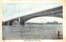 EADS BRIDGE ST LOUIS MISSOURI SHIP POSTCARD 1908