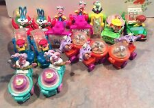 1992 McDonald's Looney Tiny Toons Wacky Rollers Happy Meal Toys - Cake Toppers